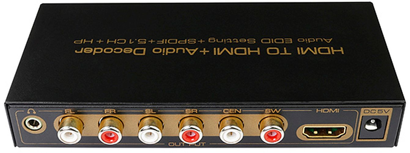 Konwerter HDMI w HDMI+audio z dekoderem 5.1 AC3 DTS Dolby