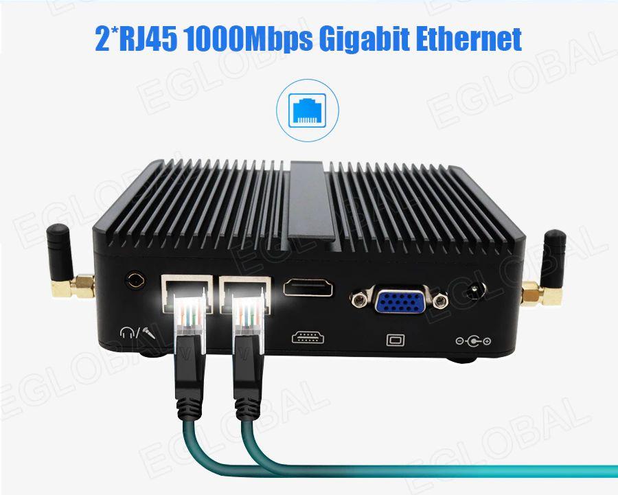 2*RJ45 1000Mbps Gigabit Ethernet