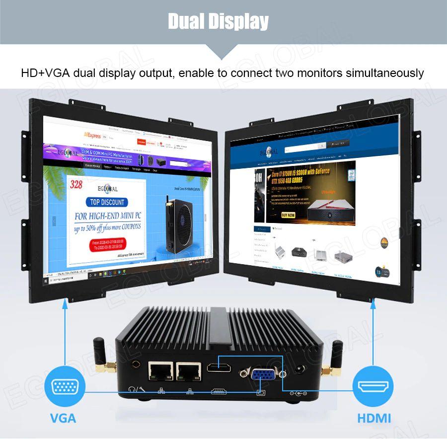 Podwójny wyświetlacz – wyjście do dwóch wyświetlacze HDMI + VGA umożliwia jednoczesne jednocześnie dwóch monitorów