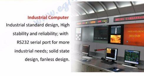 Komputer przemysłowy - standard przemysłowy, wysoka stabilność i niezawodność; z portem szeregowym RS232 dla przemysłowych potrzeb; konstrukcja półprzewodnikowa, bezwentylatorowa.