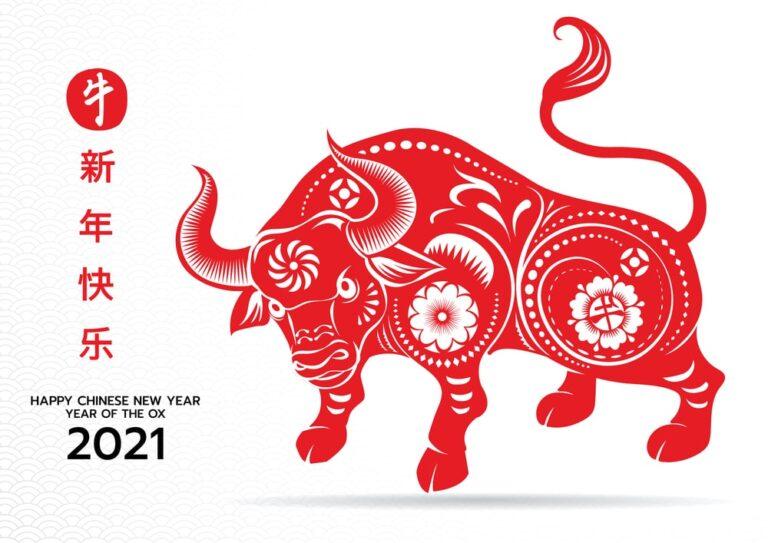 新年快乐. Szczęśliwego Nowego Roku według kalendarza wschodniego, Roku Białego Byka